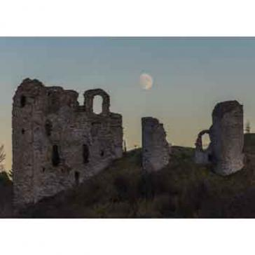 Clun Castle Moon