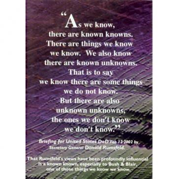 Known knowns