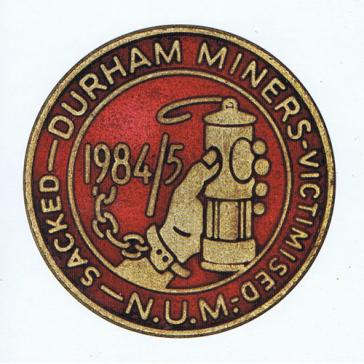 Durham Miners badge card