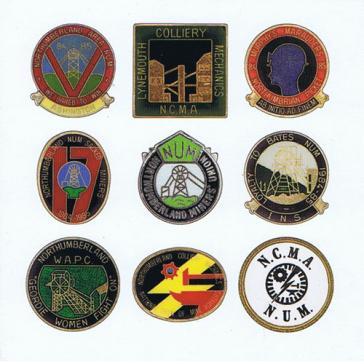 Northumberland Miners Strike badges card