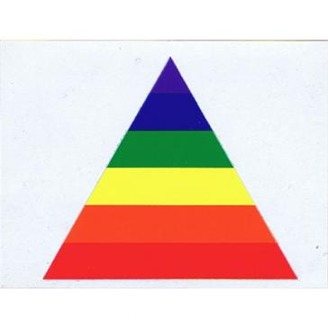 Rainbow Triangle Sticker Chris George Cards