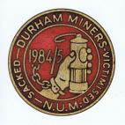 Durham Miners badge card