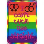 Think Straight Sticker